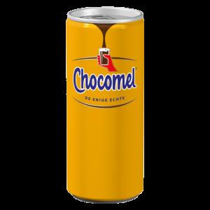 chocomel blik blikje chocomelk chocolade melk chocolademelk koud oranje blikje chocola